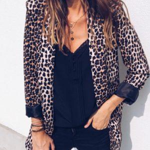 Dámské módní leopardí sako Jaylah