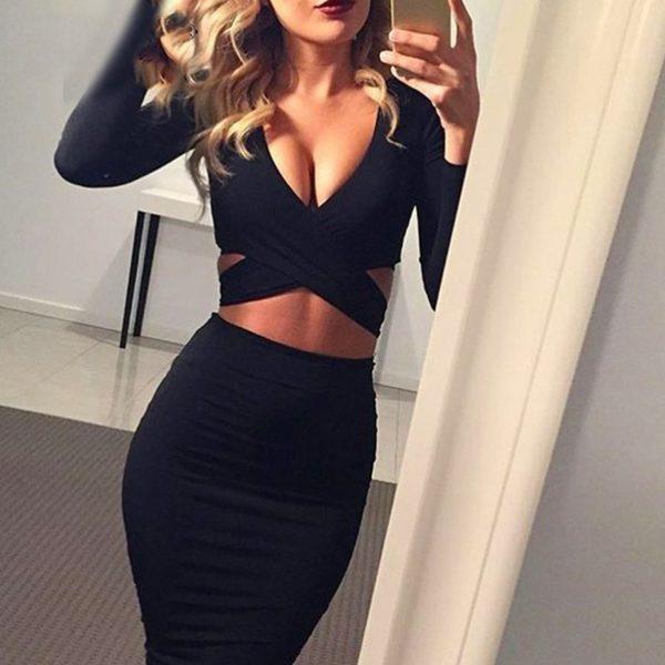 Dámské sexy šaty s průstřihy Jagger Bowen