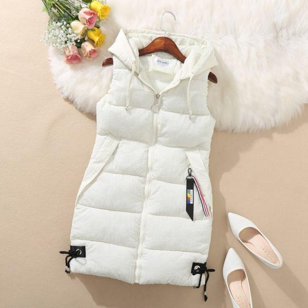 Dámská zimní dlouhá vesta Ema