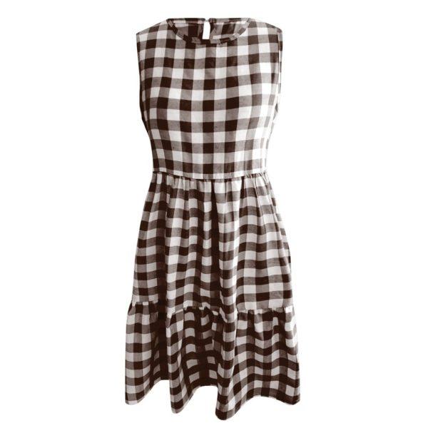 Dámské letní kostičkované šaty s volánky Hayley
