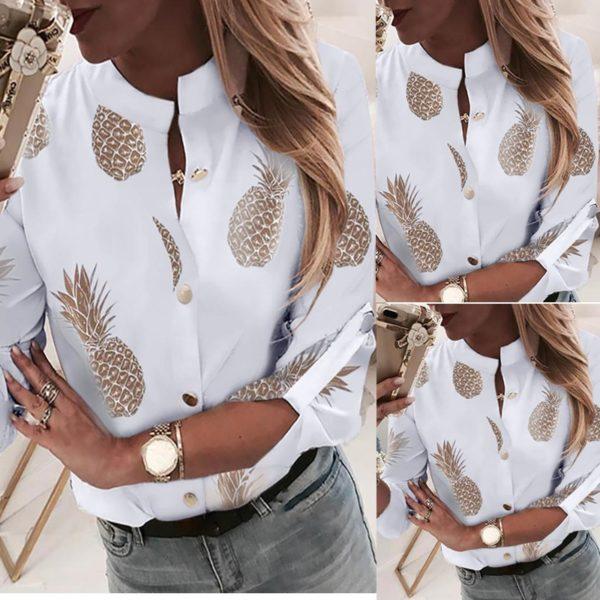Dámská stylová košile s ananasem
