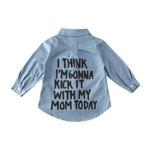Dívčí stylová džínová košile s potiskem Camren