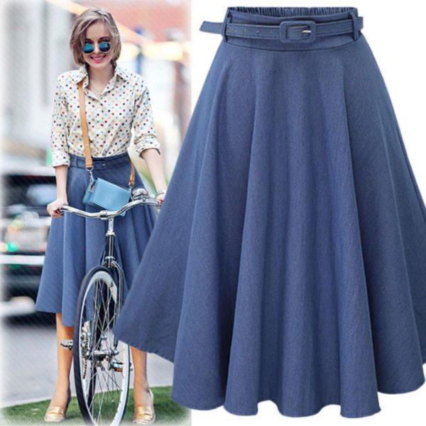 Dámská stylová vintage sukně s páskem Zamora