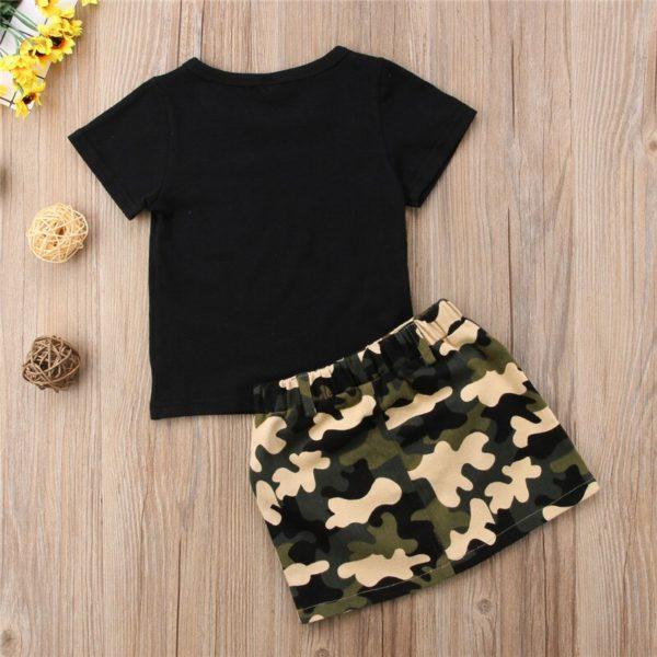 Dívčí letní modní souprava Diggi - sukně, triko