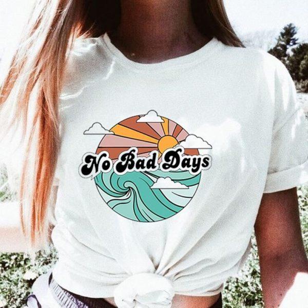 Dámské stylové triko s letním potiskem Karla