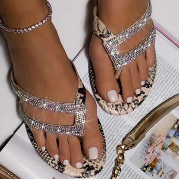 Dámské luxusní žabky Bright Diamond