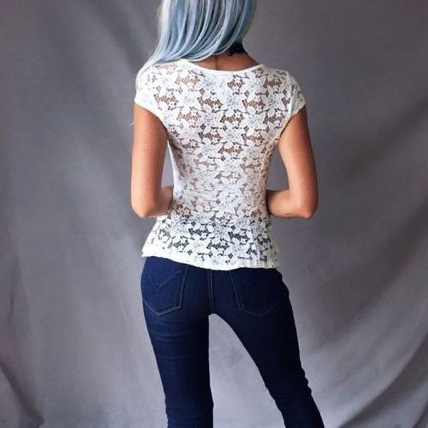 Dámské elegantní krajkové triko Jazlyn