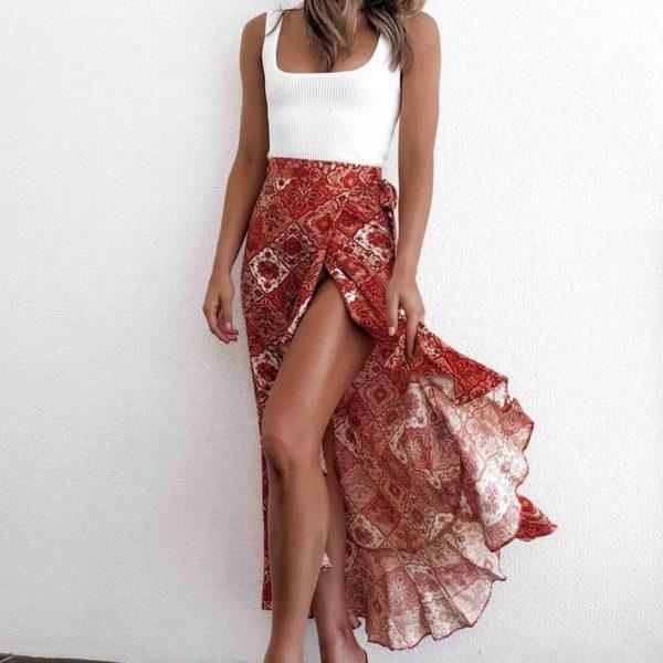 Dámská letní sukně s rozparkem Britney