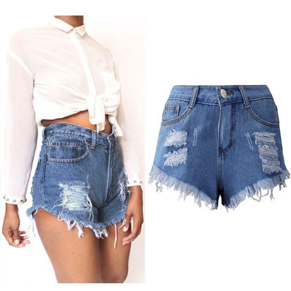 Dámské módní riflové šortky Sandra
