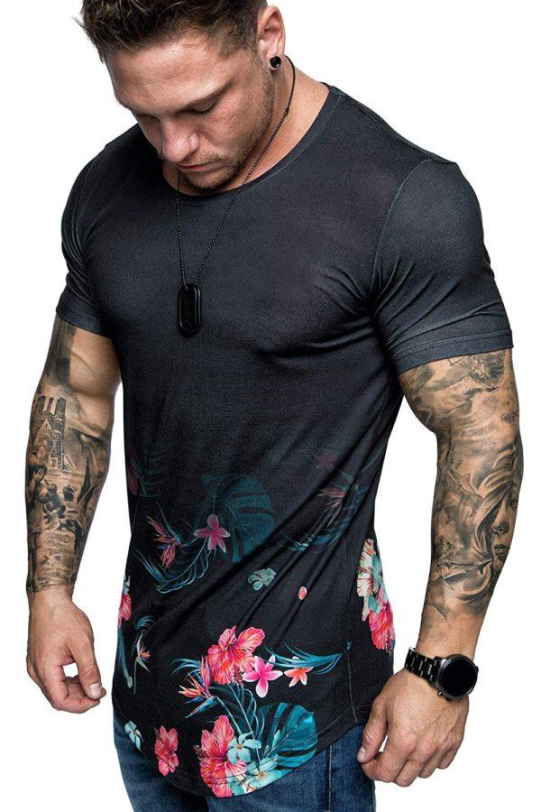 Pánské módní prodloužené triko Devin - kolekce 2020