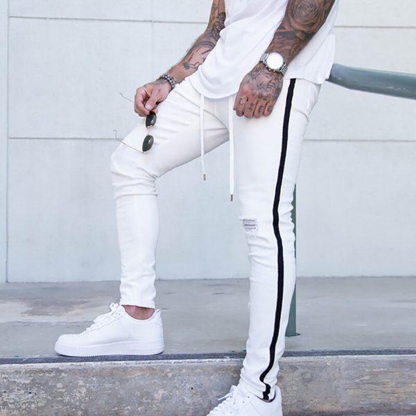 Pánské módní trhané slim džíny Roberto - kolekce 2020