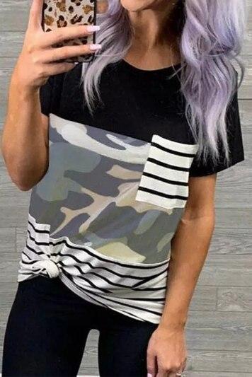 Dámské atraktivní triko s kapsičkou Aryn