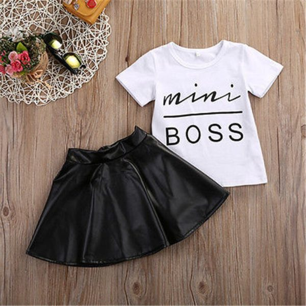 Dívčí ležérní set Mini Boss - sukně, triko