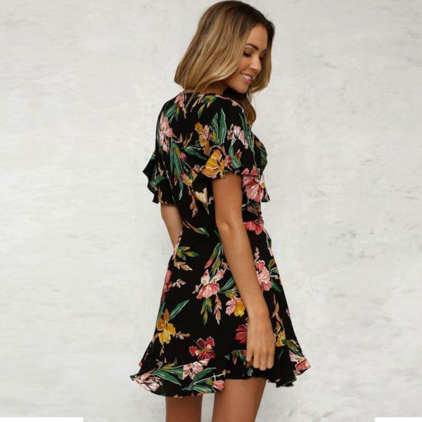 Dámské květinové letní šaty Scarlet