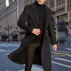 Pánský elegantní dlouhý podzimní kabát Jerry