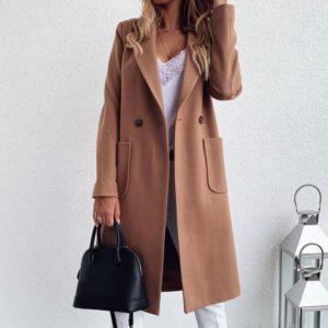 Dámský elegantní dlouhý kabát Regan