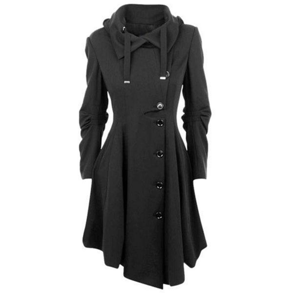 Dámský luxusní dlouhý podzimní kabát Britany