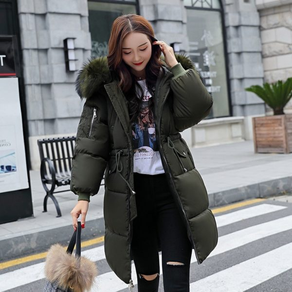 Dámská luxusní dlouhá zimní bunda Riya