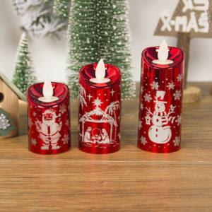 Vánoční stylová LED svíčka