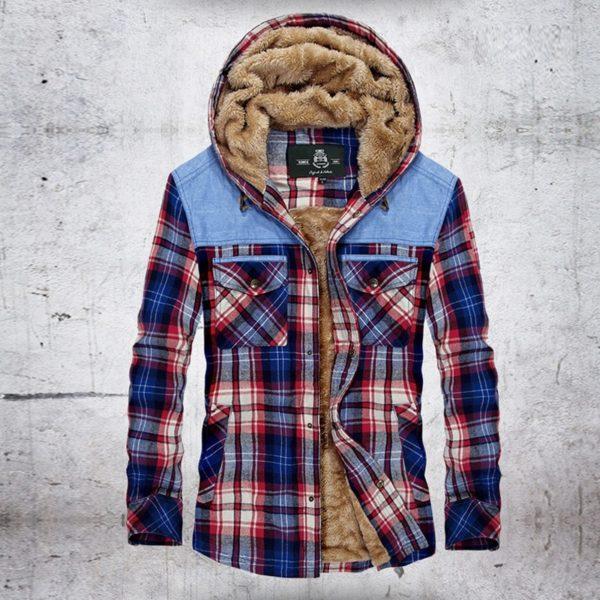 Pánská luxusní zimní bunda s kožíškem Brock