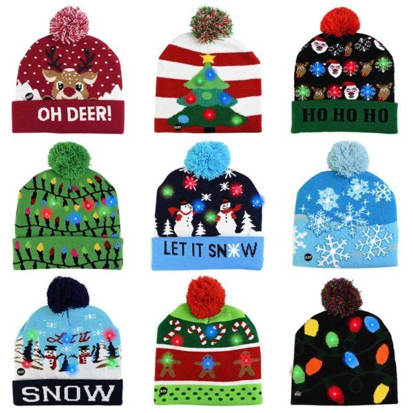 Svítící zimní čepice