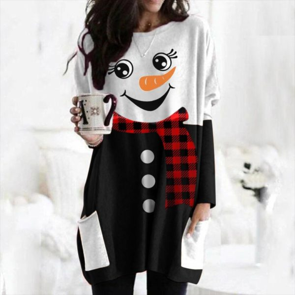 Dámské luxusní dlouhé triko Snowman