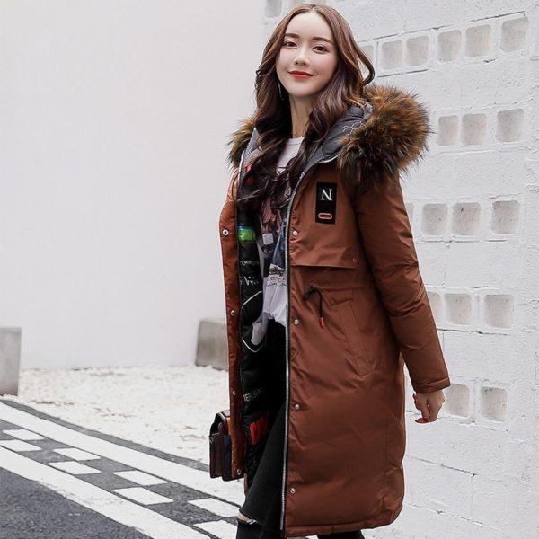 Dámský luxusní oboustranný dlouhý kabát Brenda