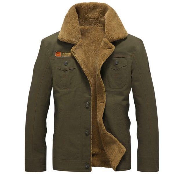 Pánská moderní zimní bunda s kožíškem Andreas