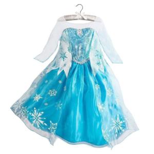 Dívčí šaty - Princezna Elsa s vločkami