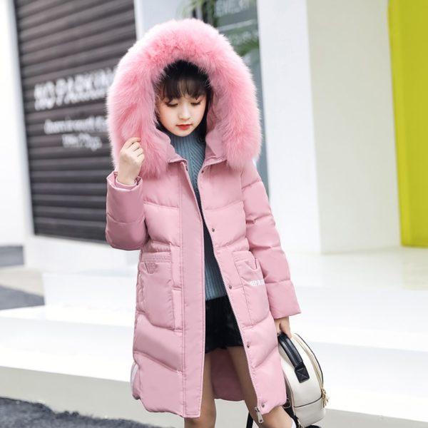 Dívčí dlouhá zimní bunda Anna