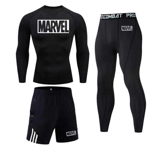 Pánský thermo běžecký set Marvel