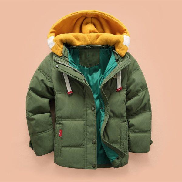 Chlapecká zimní péřová zimní bunda Justine