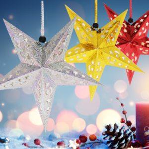Vánoční závěsná hvězda