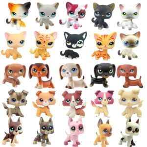 Rare littlest pet shop lps toys dog collection cute littlest sausage old original animal figure kids Christmas gifts