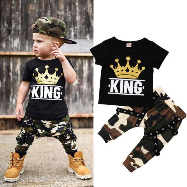 Dětská stylová souprava King – kalhoty + tričko