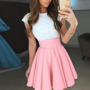 Dámská sukně s krajkou Leda