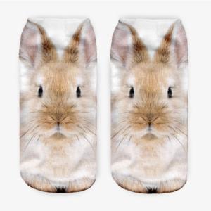Ponožky s 3D potiskem králíčka
