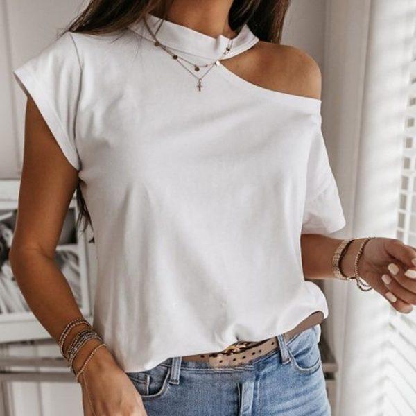 Dámské tričko s odhalým ramenem Marlee