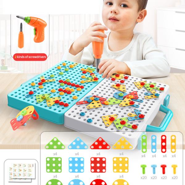 Kreativní hra pro děti s dětskou vrtačkou
