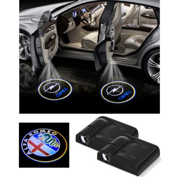 Bezdrátový LED uvítací projektor do auta