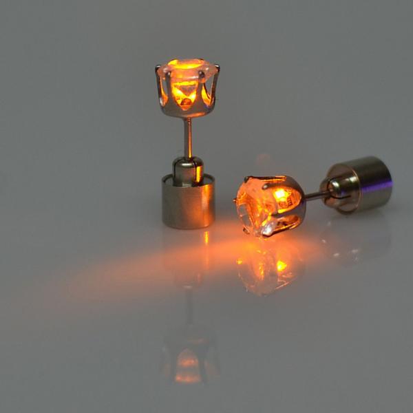 Barevné LED náušnice