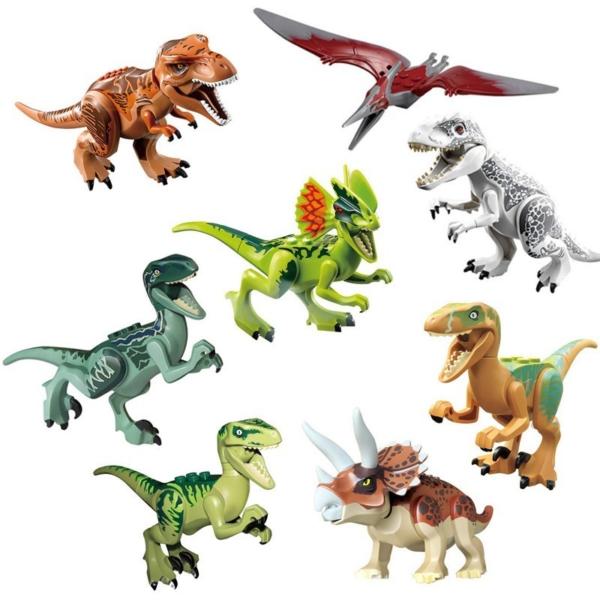 Dětské postavičky ke stavebnici - Dinosaurus set 8 ks