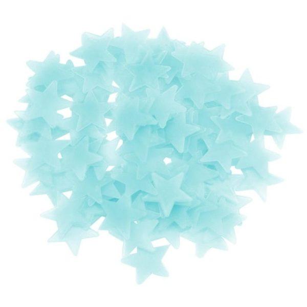 Svítící fosforové hvězdičky na zeď