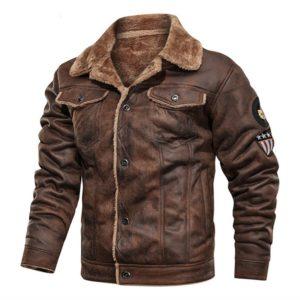 Pánská zateplená kožená bunda Adrien