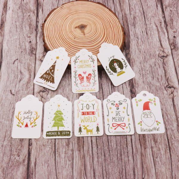 Obrázkové jmenovky, štítky na vánoční dárky - 50ks