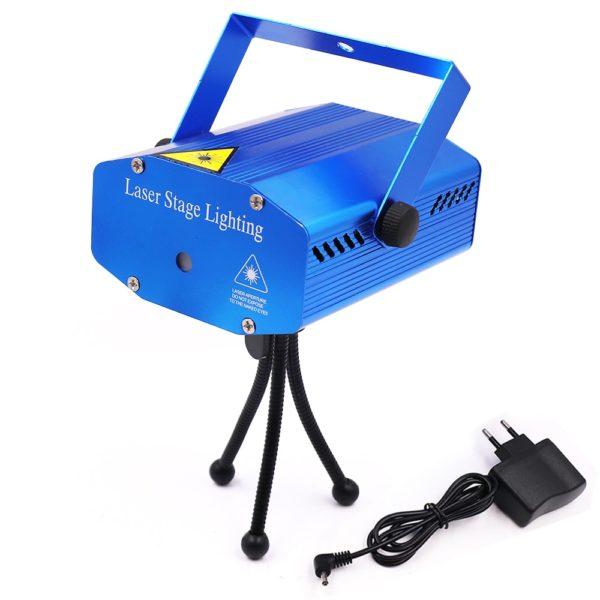 Mini laserové jevištní světlo s hlasovým ovládáním a držákem