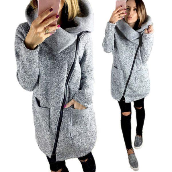 Dámská zimní mikinová bunda Faith
