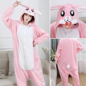 Pyžamový overal králíčka a pandy