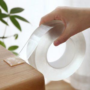 Oboustranná NANO průhledná lepící páska