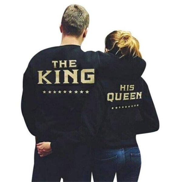 Mikina pro zamilované páry Queen a King